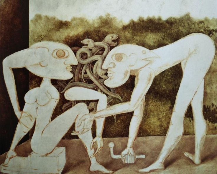 The Palladist by the Romanian artist Victor Brauner (1903-1966) - Paris:Musée National d'Art Moderne (France) - Style:Dada,Surrealism 1943