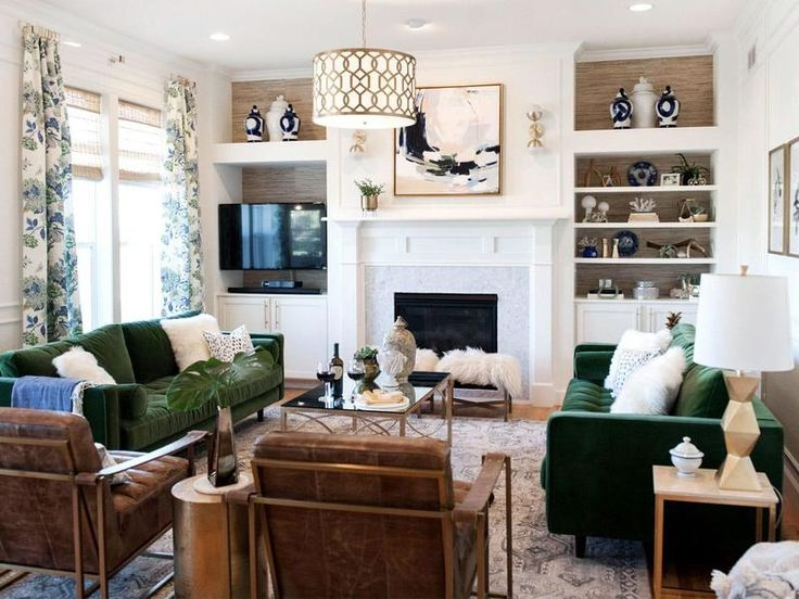 How to Decorate Around a TV   SwatchPop!   Brown living ...
