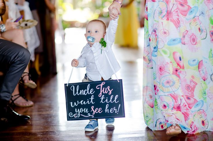 Outrigger Fiji Beach Resort Wedding Ideas Planning Inspiration Tropical Paradise Style Floral Design Planning Photography Sign Floral Baby Cute Ringbearer Chapel Ceremony Vintage