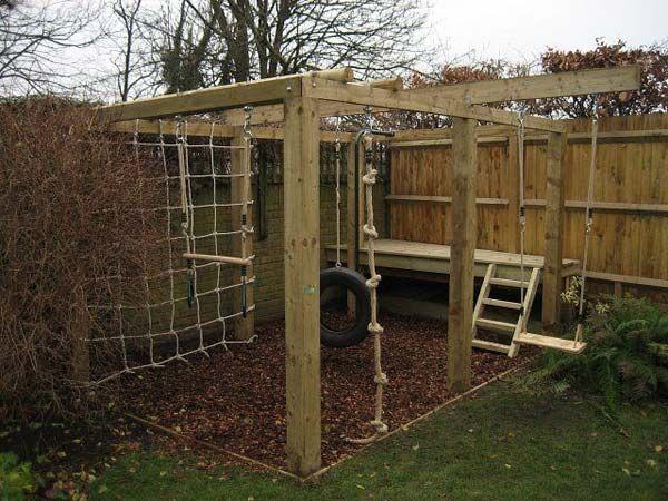 Spielplatz im Garten DIY