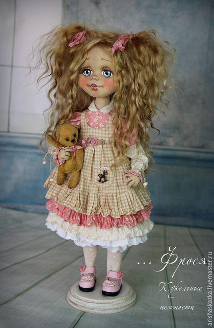Коллекционные куклы ручной работы. Фрося . Кукла авторская текстильная . Кукла…