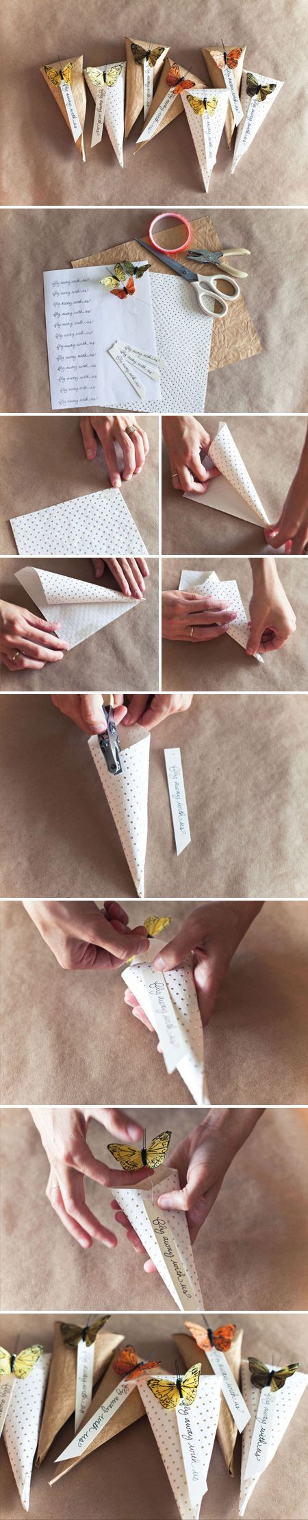 DIY Schmetterling-tütchen, als Schultüten :)