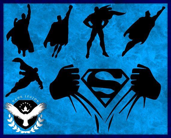 30 Superman Silhouette Superman Svg Superman Clipart Superman Print Superman Vector Superher Superman Silhouette Superhero Silhouette Superman Clipart