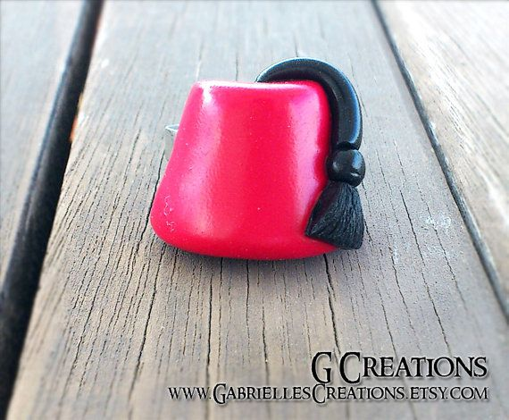 Fez Ring inspired by Doctor Who - Whovian Geek Jewelry - Fezes are cool - Handmade Miniature Fez - Matt Smith - Eleventh Doctor 11th Doctor