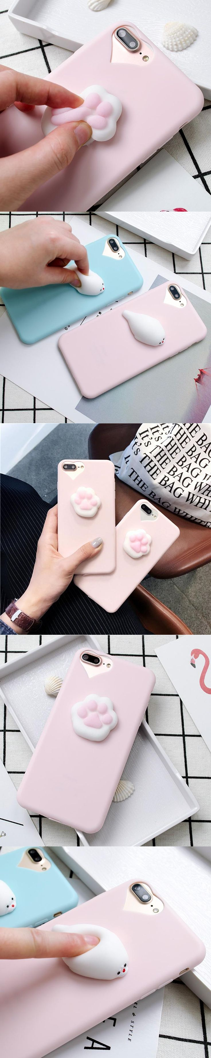 3D Lovely Heart Cartoon Candy cat silicone Phone Cover for iphone 5 6 6s 7 8 X plus Case For Samsung galaxy S8 S6 S7 edge J5