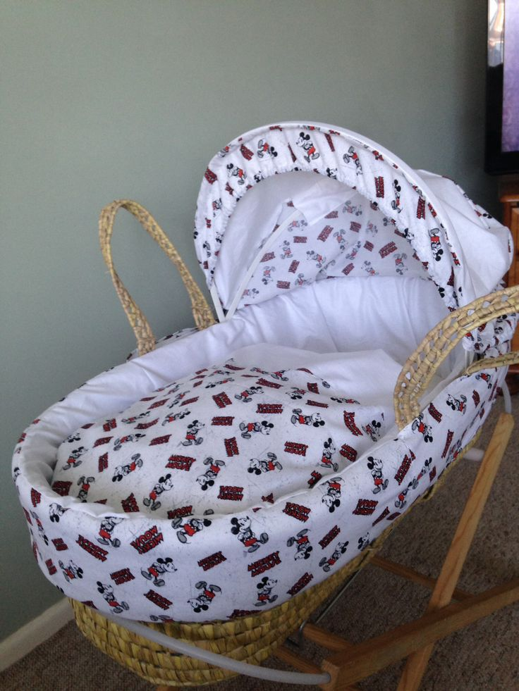 Mickey Mouse Moses Basket Covers set