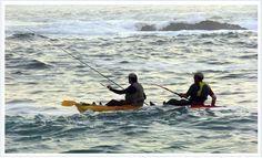 Pesca de la lubina desde kayak de pesca