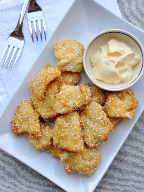 Crocchette di pollo al sesamo