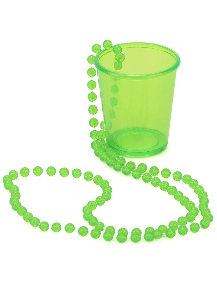 Schnapsglas mit Kette Party-Gadget neongrün , günstige Faschings Accessoires & Zubehör bei Karneval Megastore, der größte Karneval und Faschings Kostüm- und Partyartikel Online Shop Europas!