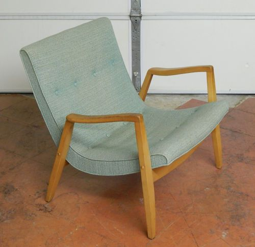 vtg antique 1950s milo baughman scoop lounge chair mid century modern ebay followitfindit - Mid Century Modern Furniture Of The 1950s