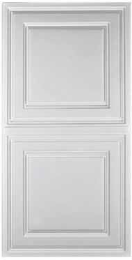 Stratford Ceiling Tile - White (2x4). They also have translucent ones in the same style for lights. Very affordable, too.