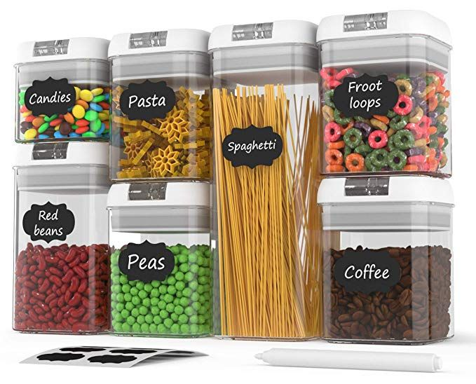 Amazon Com Airtight Food Storage Containers Airtight Container Set With Lids Airtight Food Storage Airtight Food Storage Containers Food Storage Containers