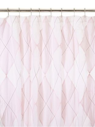 India Rose Argyle Shower Curtain, Pink/White, 72