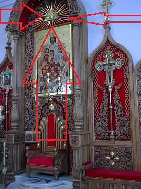 Notice the Tetragrammaton (God's name) on this PAGAN alter.