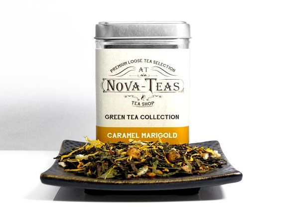 Caramel Green Tea  Loose Leaf Tea  Organic Green Tea by NovaTeas
