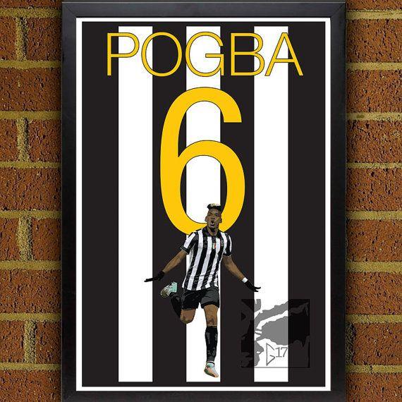Paul Pogba Juventus Poster #art #soccer #football #print #juventus #seriaA #calcio #gift #idea #forHim #soccer