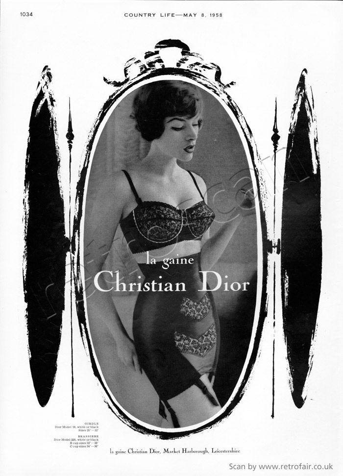 1958 Christian Dior Lingerie (click picture for more details)