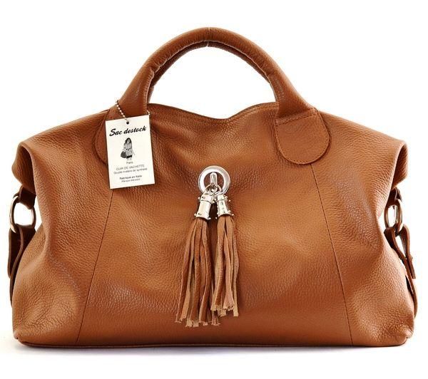 sac destock sac a main cuir tgrainet ref parme nouvelle collection promotion cognac - Sac A Main Color