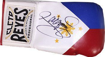 Manny Pacquiao signed Philippines Flag WhiteBlueRed Left Cleto Reyes Boxing Glove slight smudge >>> Click image to review more details. (Note:Amazon affiliate link)