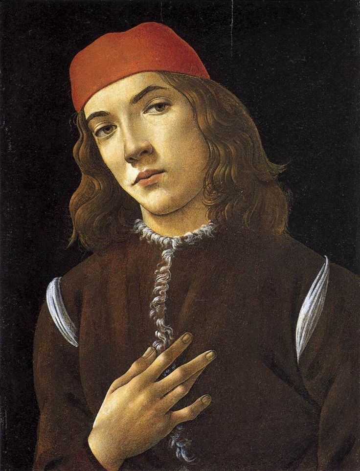 BOTTICELLI, Sandro Portrait of a Young Man 1482-83 Tempera on panel, 41 x 31 cm National Gallery of Art, Washington