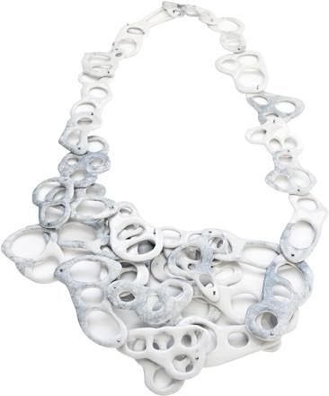Mirka Janeckova  - one of my graduating pieces from GSA called Drawing Neckpiece (2013) made from slipcasted porcelain.: