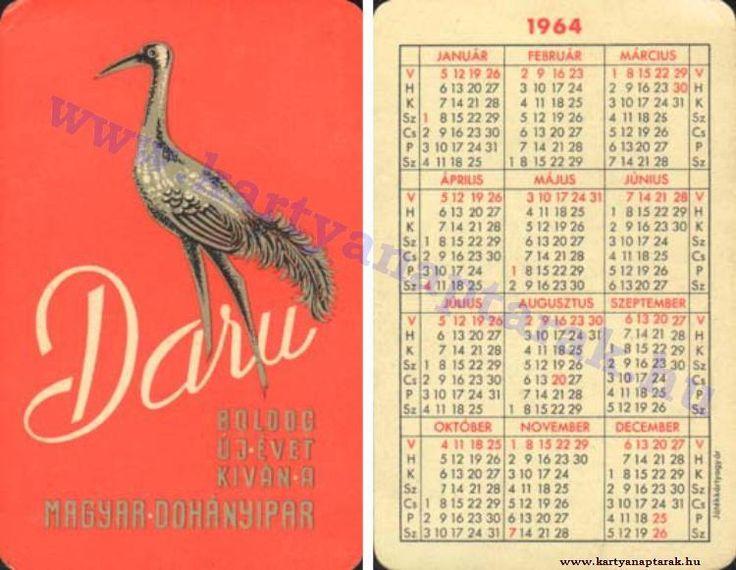 1964 - 1964_0154 - Régi magyar kártyanaptárak