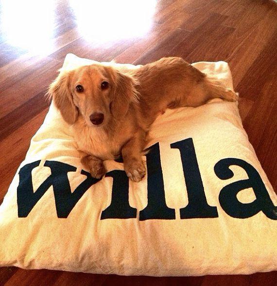 Furlap Personalized Dog Bed Duvet Cover- Machine Washable, Dryer safe