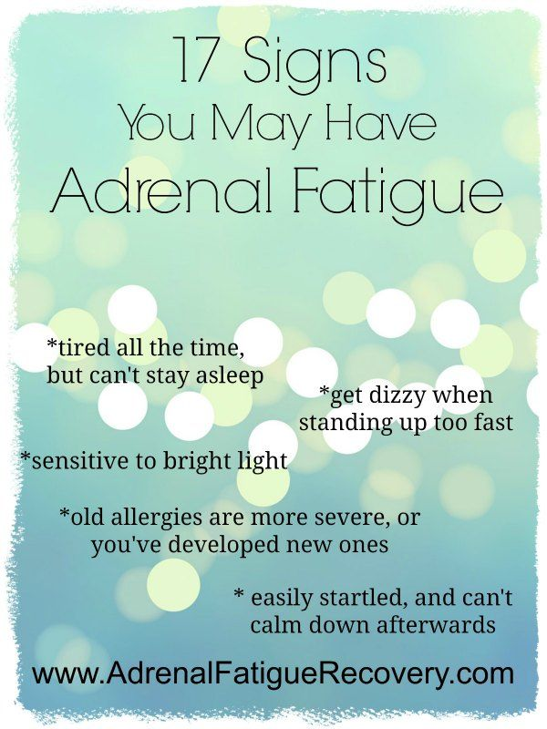 Signs of Adrenal Fatigue found at www.AdrenalFatigueRecovery.com