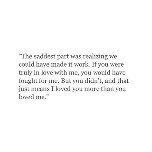 I don't know if I loved him more, cuz I never really had a chance to get to know him when either of is wasn't going thru crap. But from what I saw about how he dealt with things by stonewalling for months, there's no way I'd ever be happy with someone that is okay with ignoring someone he claims to care about like that.