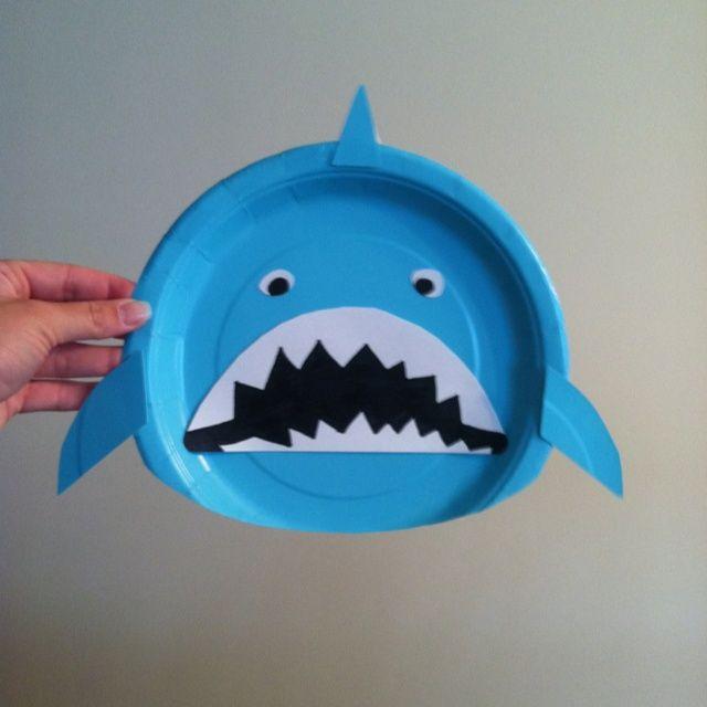 Paper plate Shark for a Mermaid/Under the Sea ... | Sea Animals Presc…