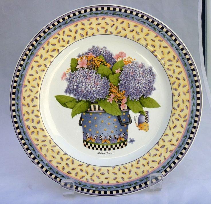 SAKURA Stoneware PlateHydrangea purpleButterfly Spring Bouquet Debbie Mumm #SAKURA  sc 1 st  Pinterest & 29 best My Debbie Mumm Dishes images on Pinterest | Dinnerware Dish ...