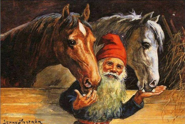 Jenny Nyström - Tonttu ja hevoset