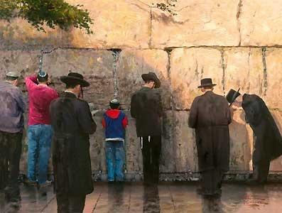 The Wailing Wall - Jerusalem - Thomas Kinkade - World-Wide-Art.com - $720.00 #Kinkade