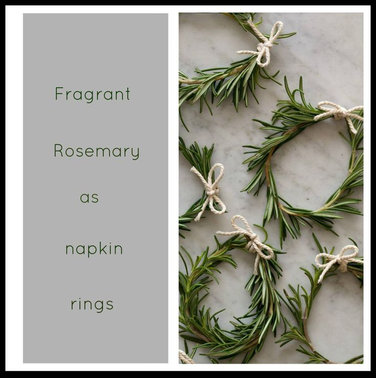 Christmas-table-styling-Rosemary-napkin-rings. Photo by spoon, Fork, bacon