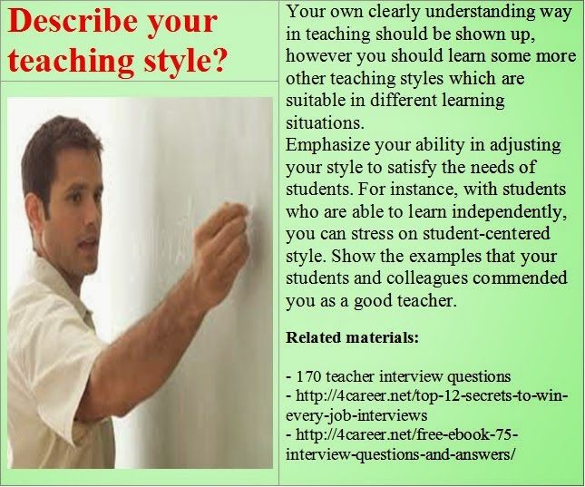 17 Best images about preschool teacher interview questions on ...