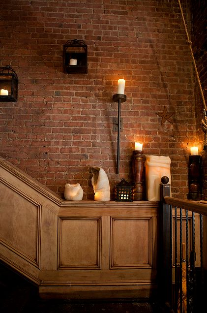 candles stairway