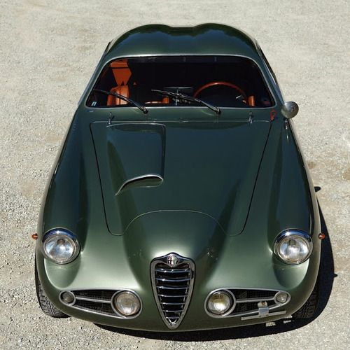 1955 Alfa Romeo 1900C SS - the green color and the air intake/bulge on the bonnet