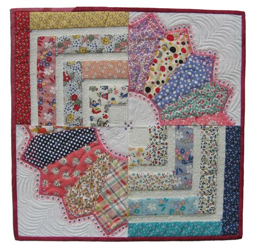 interesting combination of patterns: Fancy Crowns, Beautiful Quilts, Beautiful Quilting, Defin Twists, Mini Quilts, Quilts Blocks, Log Cabins, Unique Blocks, Dresden Plates