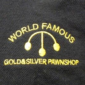 Pawn Stars Gold & Silver Pawn Shop Employee Black Adult Polo - Pawn Stars -   TV Store Online