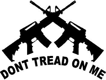 Quot Don T Tread On Me Quot Ar15 Silhouette High Quality Vinyl