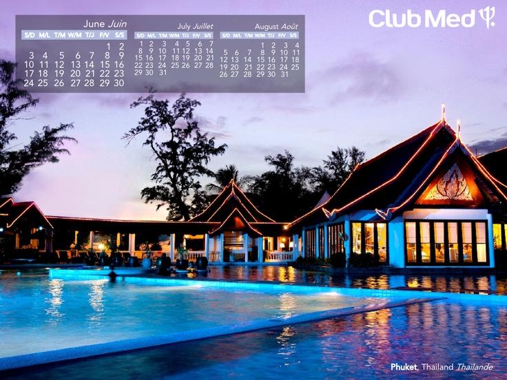 Club Med in Phuket, Thailand in JUNE