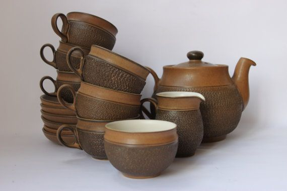 Denby English Pottery teaset Cotswold teapot by MillCottageRetro
