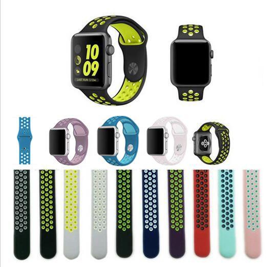 Alta qualidade da Série 1 & 2 & 3 Pulseira faixa de Relógio cinta para iwatch Para Apple 42mm 38mm esporte Silicone