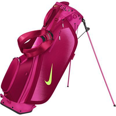Hot Pink Nike Ladies/Men's Sport Lite Carry Stand Fireberry Golf Bag at #LorisGolfShoppe