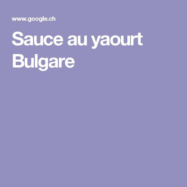 Sauce au yaourt Bulgare