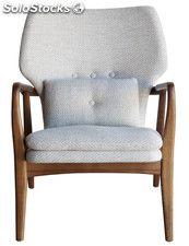 Sillón butaca de diseño réplica Gladsaxe Arm Chair tapizado color beige
