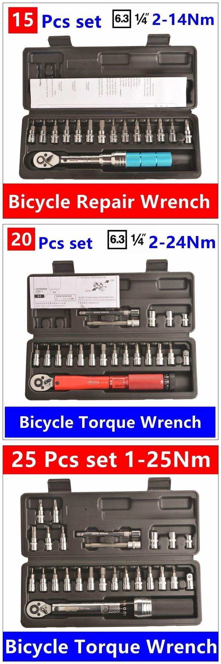 MXITA  1/4inch 1-25NM Click Adjustable Torque Wrench Bicycle Repair tools kit set tool bike repair spanner hand tool set #bicyclerepairkit #bikerepair #bicyclerepairtools
