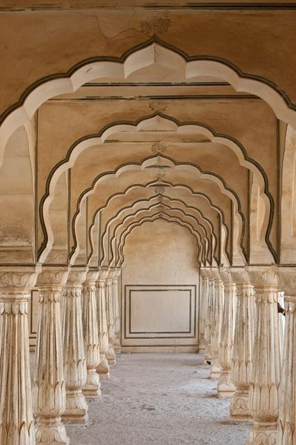 Amer Fort, Jaipur, Rajasthan, India. Amer Fort, (also spelled and pronounced as Amber Fort) is located in Amer, 11 kilometres  from Jaipur, Rajasthan.