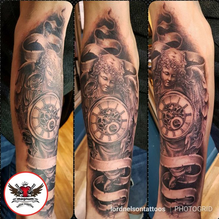 Black and grey piece done by Lord Nelson using #magnumtattoosupplies