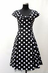 50'er kjole store hvide prikker - 50'er kjoler - Mamelukken